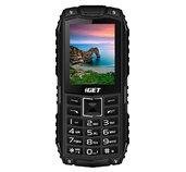 iGET Defender D10 Black - odolný telefon IP68, DualSIM, 2500 mAh, BT, powerbanka, svítilna, FM, MP3 foto