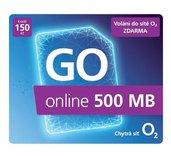 O2 Předplacený mobilní internet GO online 500MB foto