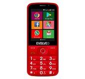 EVOLVEO EasyPhone AD, chytrý mobilní telefon pro seniory s nabíjecím stojánkem (červená barva) foto