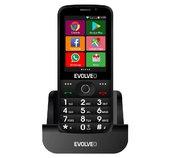 EVOLVEO EasyPhone AD, chytrý mobilní telefon pro seniory s nabíjecím stojánkem (černá barva) foto