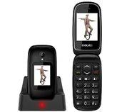 EVOLVEO EasyPhone FD, mobilní telefon pro seniory s nabíjecím stojánkem (černá barva) foto