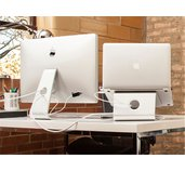 """NewStar držák na notebook otočný o 360,ergonomický, 10-17"""", stříbrný foto"""
