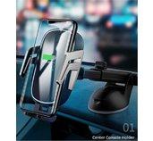 USAMS CD101 Automatic Touch Držák do Auta vč. Bezdrátového Dobíjení foto