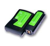 UTP kabel tester RJ11,RJ45-indikace LED diody,čern foto