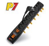 Rozvodný panel ACAR P7/3m 5+2x220V černý+přep.ochr foto