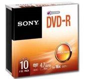 Média DVD-R SONY DMR-47; 4.7GB; 16x; 10ks SLIM foto