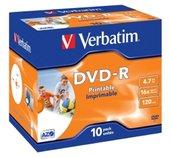 VERBATIM DVD-R (10-pack)Printable/16x/4.7GB/Jewel foto