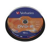 VERBATIM DVD-R(10-Pack)Spindl/MattSlvr/16x/4.7GB foto