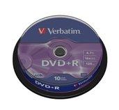 VERBATIM DVD+R(10-Pack)Spindl/MattSlvr/16x/4.7GB foto