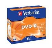 VERBATIM DVD-R(5-Pack)Jewel/MattSlvr/16x/4.7GB foto