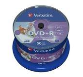 VERBATIM DVD+R(50-Pack)Cake/Print/16x/4.7GB/NoID foto