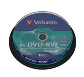 VERBATIM DVD-RW(10-Pack)Spindle4x/DLP/4.7GB foto
