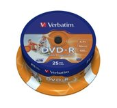 VERBATIM DVD-R(25-Pack)Spindl/Printable/16x/4.7GB foto