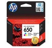 HP 650 tříbarevná inkoustová kazeta, CZ102AE foto