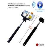 C-TECH Teleskopický selfie držák BT spoušť, černý foto