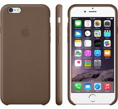 Apple iPhone 6 Plus Leather Case Olive Brown foto