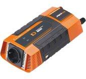 Měnič napětí Carspa PID600 12V/230V+2xUSB 600W, modifikovaná sinus, digitální display foto