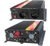 Měnič napětí Carspa CAR1.6KU-12, 12V/230V+USB 1600W modifikovaná sinus foto