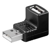 PremiumCord USB redukce A-A, Male/Female 90° foto