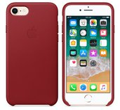 iPhone 8 / 7 Leather Case - (PRODUCT)RED foto