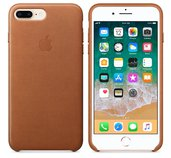 iPhone 8 Plus / 7 Plus Leather Case - Saddle Brown foto