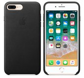 iPhone 8 Plus / 7 Plus Leather Case - Black foto