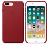 iPhone 8 Plus / 7 Plus Leather Case - (PRODUCT)RED foto